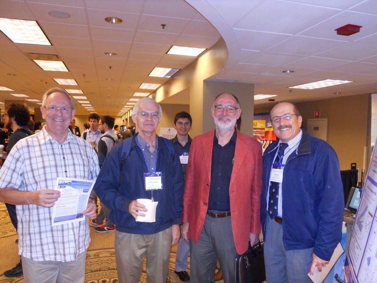 From left to right: Prof. Vladmir Kucera (CVUT-CZ), Prof. Carlos de Souza (LNCC-BR), Prof. Robert Bitmead (UCSD), Prof. Nejat Olgac.